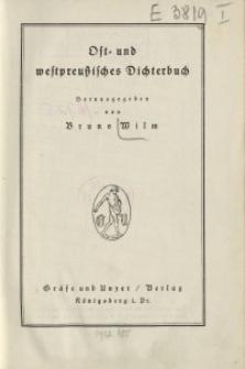 Ost- und westpreußisches Dichterbuch