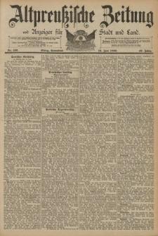Altpreussische Zeitung, Nr. 136 Sonnabend 14 Juni 1890, 42. Jahrgang