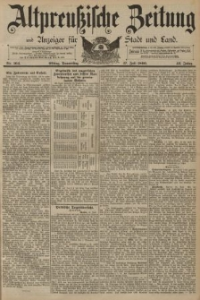 Altpreussische Zeitung, Nr. 164 Donnerstag 17 Juli 1890, 42. Jahrgang