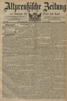 Altpreussische Zeitung, Nr. 170 Donnerstag 24 Juli 1890, 42. Jahrgang