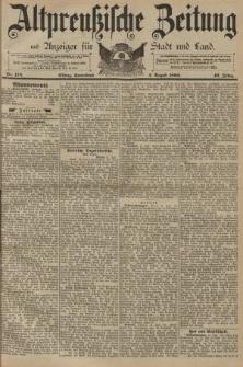 Altpreussische Zeitung, Nr. 178 Sonnabend 2 August 1890, 42. Jahrgang