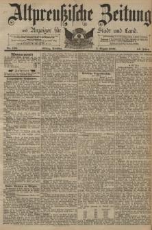 Altpreussische Zeitung, Nr. 180 Dienstag 5 August 1890, 42. Jahrgang
