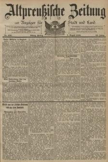 Altpreussische Zeitung, Nr. 183 Freitag 8 August 1890, 42. Jahrgang
