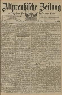 Altpreussische Zeitung, Nr. 185 Sonntag 10 August 1890, 42. Jahrgang