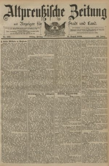 Altpreussische Zeitung, Nr. 189 Freitag 15 August 1890, 42. Jahrgang
