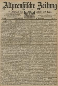 Altpreussische Zeitung, Nr. 190 Sonnabend 16 August 1890, 42. Jahrgang