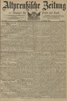 Altpreussische Zeitung, Nr. 191 Sonntag 17 August 1890, 42. Jahrgang