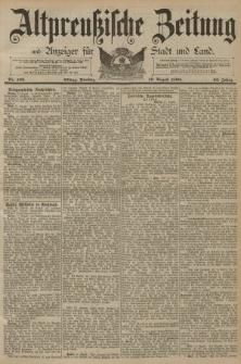 Altpreussische Zeitung, Nr. 192 Dienstag 19 August 1890, 42. Jahrgang
