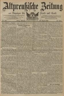 Altpreussische Zeitung, Nr. 193 Mittwoch 20 August 1890, 42. Jahrgang