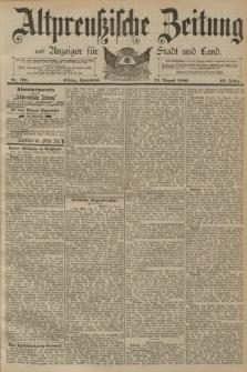 Altpreussische Zeitung, Nr. 196 Sonnabend 23 August 1890, 42. Jahrgang