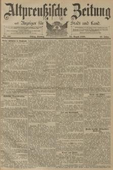 Altpreussische Zeitung, Nr. 197 Sonntag 24 August 1890, 42. Jahrgang