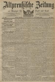 Altpreussische Zeitung, Nr. 198 Dienstag 26 August 1890, 42. Jahrgang