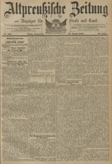 Altpreussische Zeitung, Nr. 200 Donnerstag 28 August 1890, 42. Jahrgang