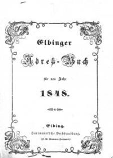 Elbinger Adress-Buch für das Jahr 1848