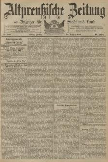Altpreussische Zeitung, Nr. 201 Freitag 29 August 1890, 42. Jahrgang