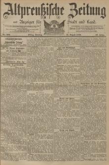 Altpreussische Zeitung, Nr. 203 Sonntag 31 August 1890, 42. Jahrgang