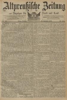 Altpreussische Zeitung, Nr. 216 Dienstag 16 September 1890, 42. Jahrgang