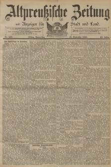Altpreussische Zeitung, Nr. 218 Donnerstag 18 September 1890, 42. Jahrgang