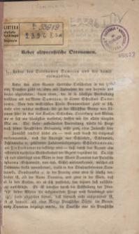 Ueber altpreussische Ortsnamen