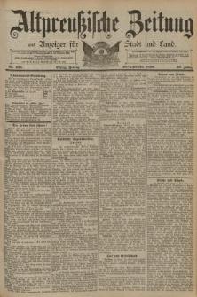 Altpreussische Zeitung, Nr. 225 Freitag 26 September 1890, 42. Jahrgang