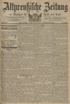 Altpreussische Zeitung, Nr. 227 Sonntag 28 September 1890, 42. Jahrgang
