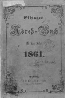 Elbinger Adress-Buch für das Jahr 1861