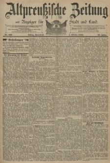 Altpreussische Zeitung, Nr. 232 Sonnabend 4 Oktober 1890, 42. Jahrgang
