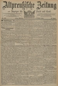 Altpreussische Zeitung, Nr. 235 Mittwoch 8 Oktober 1890, 42. Jahrgang