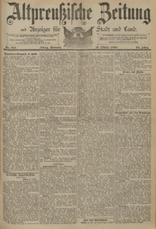 Altpreussische Zeitung, Nr. 241 Mittwoch 15 Oktober 1890, 42. Jahrgang