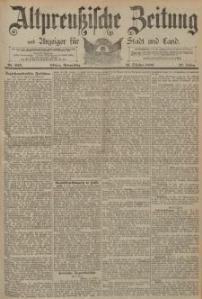 Altpreussische Zeitung, Nr. 242 Donnerstag 16 Oktober 1890, 42. Jahrgang