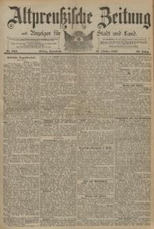 Altpreussische Zeitung, Nr. 244 Sonnabend 18 Oktober 1890, 42. Jahrgang