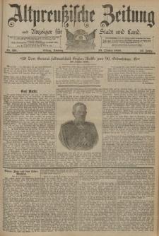 Altpreussische Zeitung, Nr. 251 Sonntag 26 Oktober 1890, 42. Jahrgang