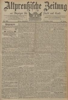Altpreussische Zeitung, Nr. 256 Sonnabend 1 November 1890, 42. Jahrgang