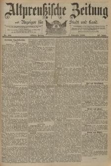 Altpreussische Zeitung, Nr. 261 Freitag 7 November 1890, 42. Jahrgang