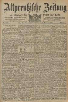 Altpreussische Zeitung, Nr. 262 Sonnabend 8 November 1890, 42. Jahrgang