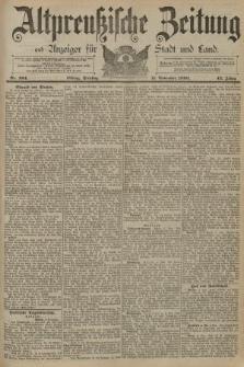 Altpreussische Zeitung, Nr. 264 Dienstag 11 November 1890, 42. Jahrgang