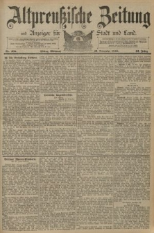 Altpreussische Zeitung, Nr. 265 Mittwoch 12 November 1890, 42. Jahrgang