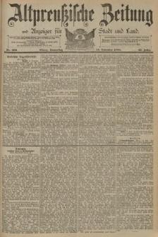 Altpreussische Zeitung, Nr. 266 Donnerstag 13 November 1890, 42. Jahrgang
