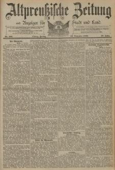 Altpreussische Zeitung, Nr. 267 Freitag 14 November 1890, 42. Jahrgang