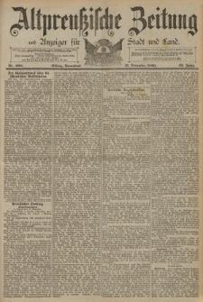 Altpreussische Zeitung, Nr. 268 Sonnabend 15 November 1890, 42. Jahrgang