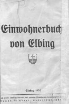 Einwohnerbuch von Elbing