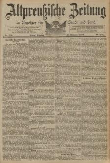 Altpreussische Zeitung, Nr. 270 Dienstag 18 November 1890, 42. Jahrgang
