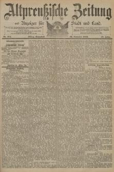 Altpreussische Zeitung, Nr. 274 Sonnabend 22 November 1890, 42. Jahrgang