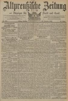 Altpreussische Zeitung, Nr. 276 Dienstag 25 November 1890, 42. Jahrgang