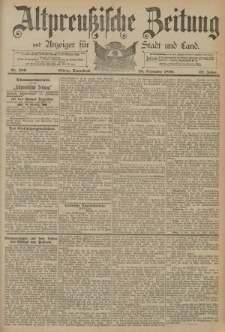 Altpreussische Zeitung, Nr. 280 Sonnabend 29 November 1890, 42. Jahrgang