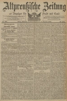 Altpreussische Zeitung, Nr. 283 Mittwoch 3 Dezember 1890, 42. Jahrgang