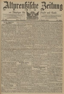 Altpreussische Zeitung, Nr. 286 Sonnabend 6 Dezember 1890, 42. Jahrgang
