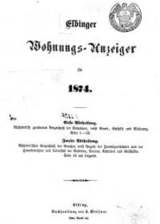 Elbinger Wohnungs-Anzeiger für 1874