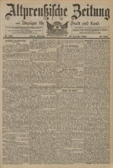 Altpreussische Zeitung, Nr. 289 Mittwoch 10 Dezember 1890, 42. Jahrgang