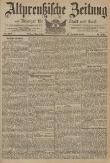 Altpreussische Zeitung, Nr. 290 Donnerstag 11 Dezember 1890, 42. Jahrgang